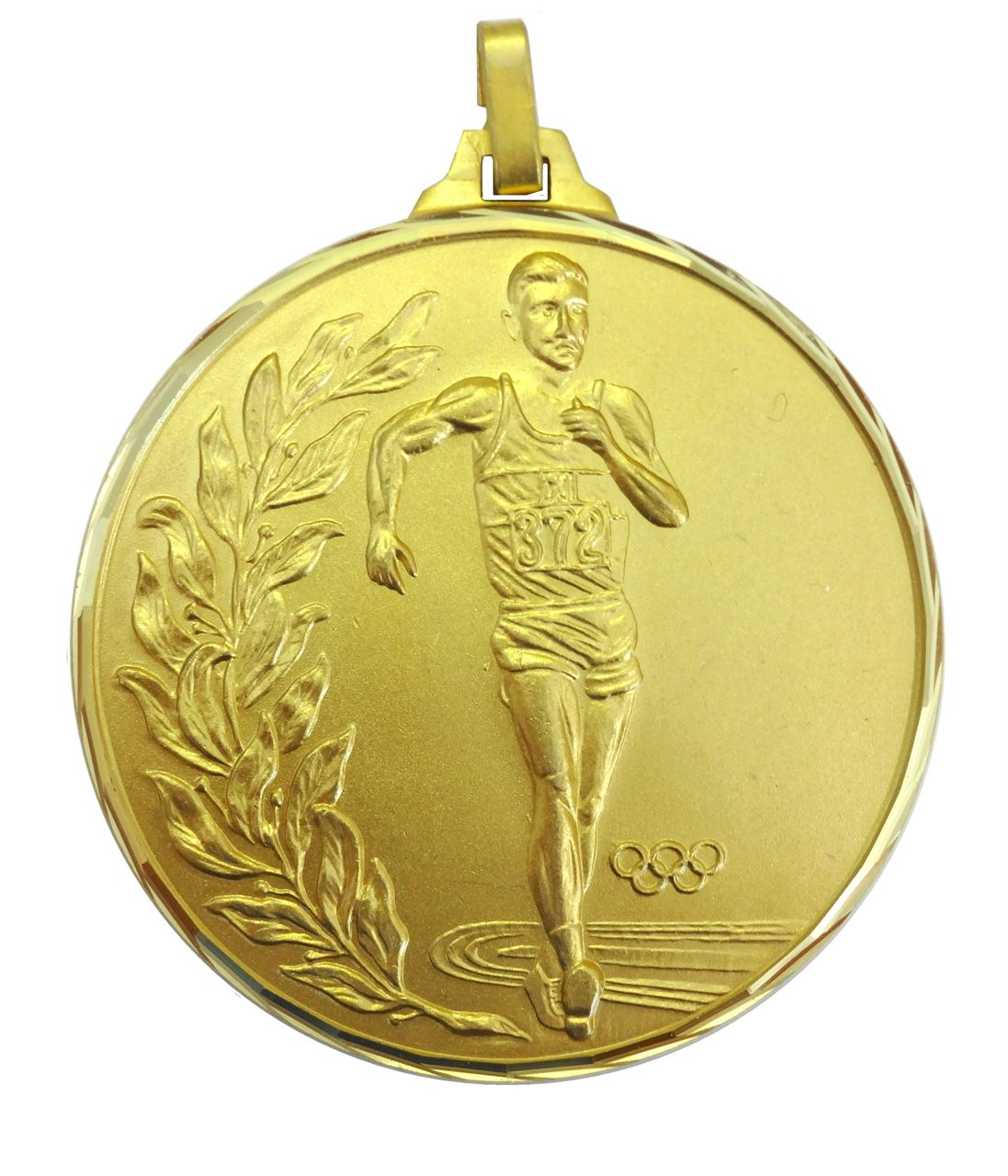 Gold Faceted Race Walking Olympic Medal (size: 52mm) - 107/52G