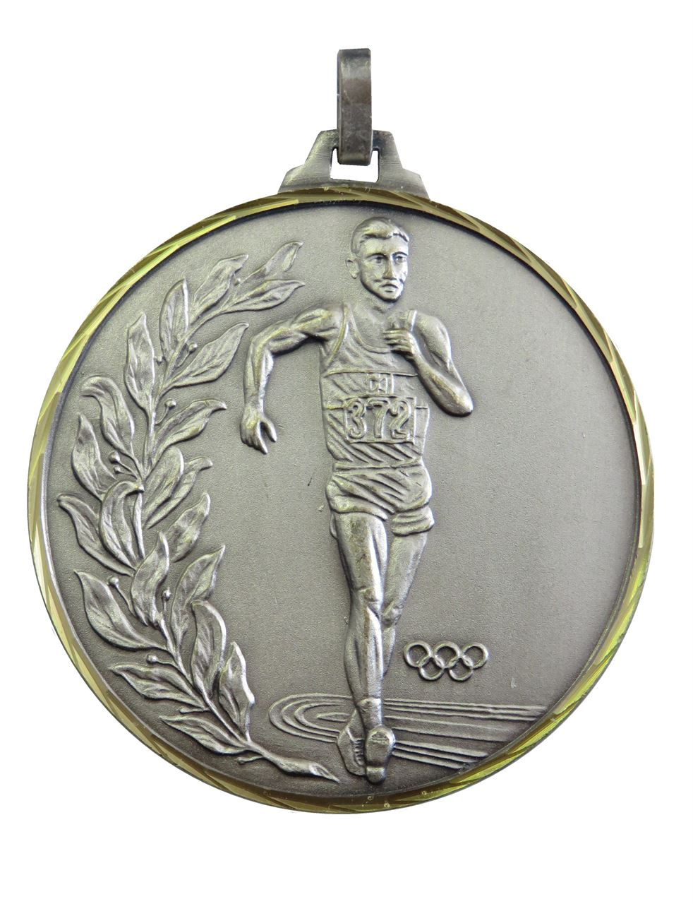 Silver Faceted Race Walking Olympic Medal (size: 52mm) - 107/52S