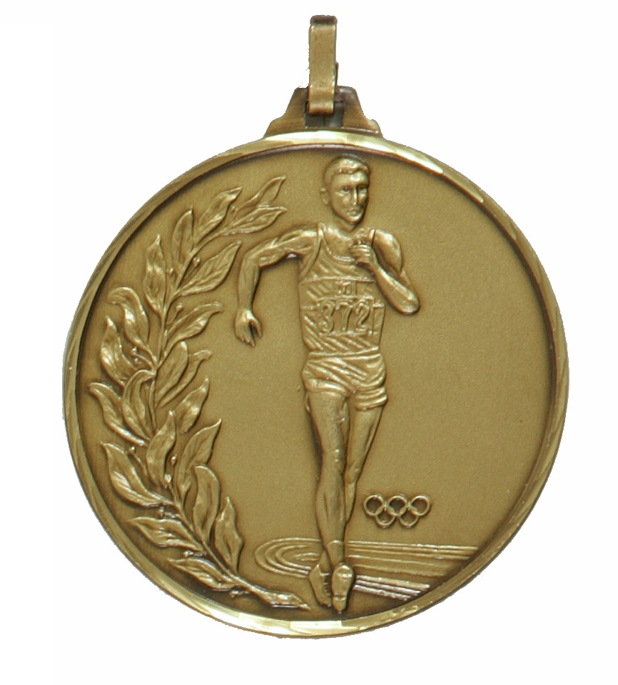 Bronze Faceted Race Walking Olympic Medal (size: 52mm) - 107/52B