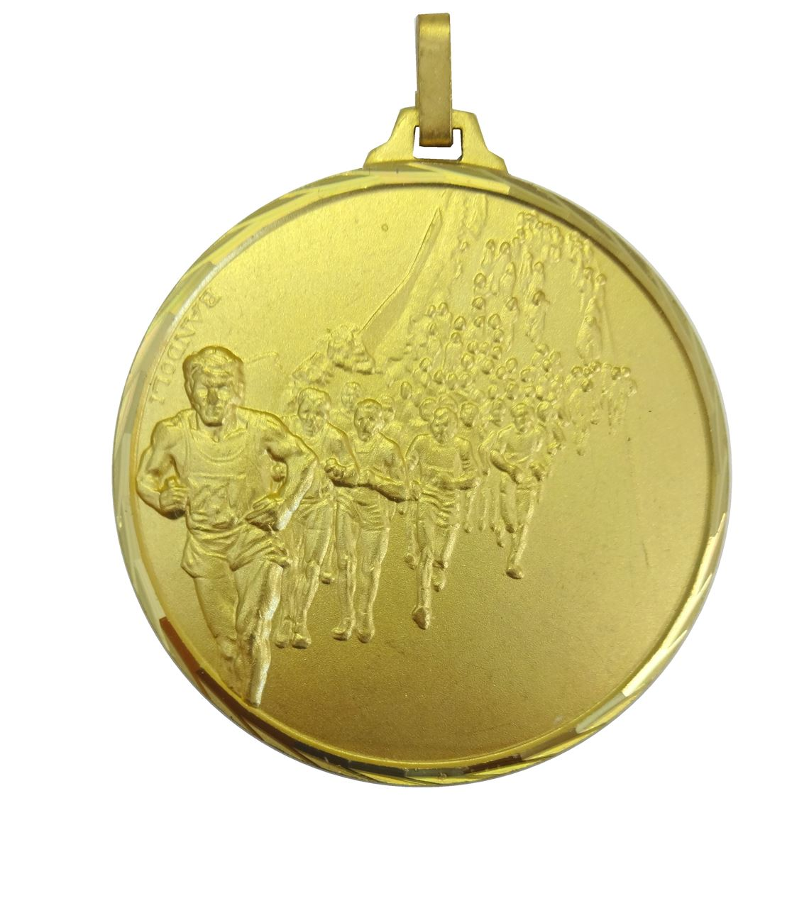 Gold Faceted Marathon Medal (size: 42mm) - 116F/42G