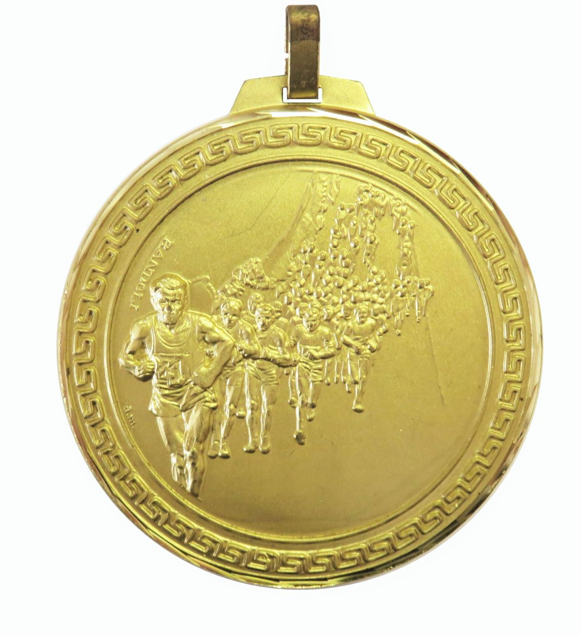 Gold Faceted Marathon Medal (size: 70mm) - 116F/70G
