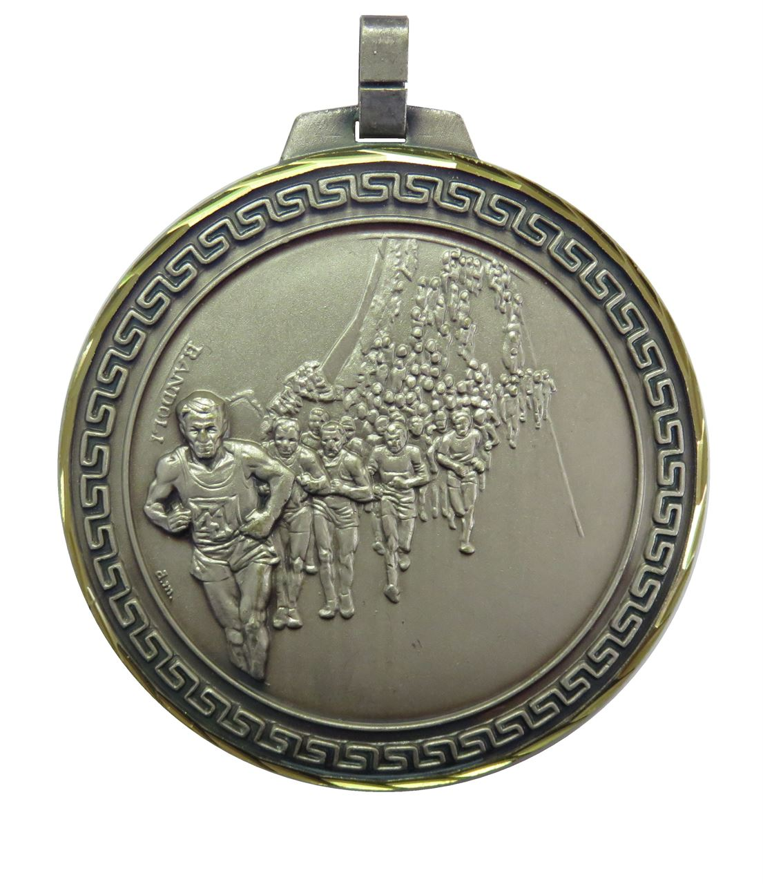 Silver Faceted Marathon Medal (size: 70mm) - 116F/70S