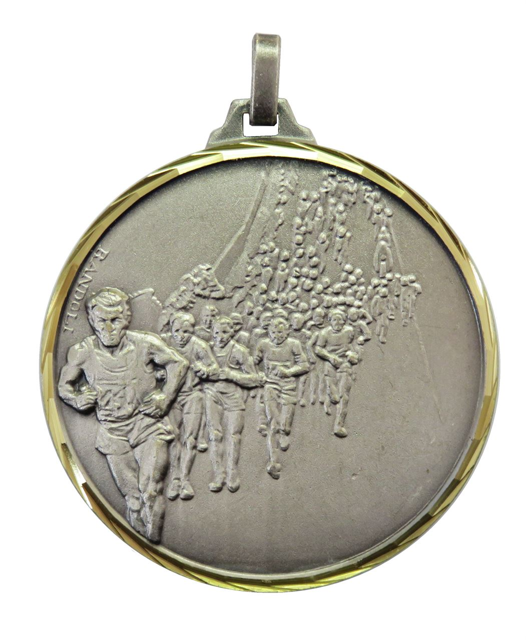 Silver Faceted Marathon Medal (size: 42mm) - 116F/42S