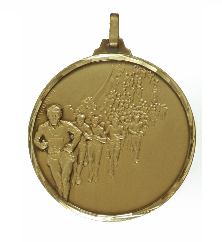 Bronze Faceted Marathon Medal (size: 42mm) - 116F/42B