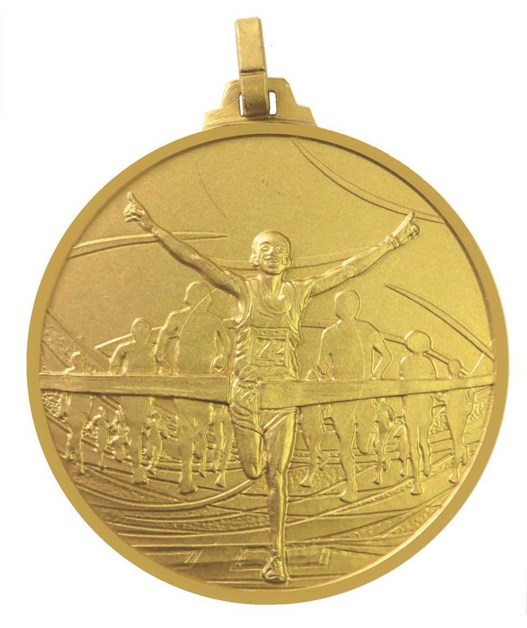 Gold Faceted Winning Runner Medal (size: 52mm) - 438/52G