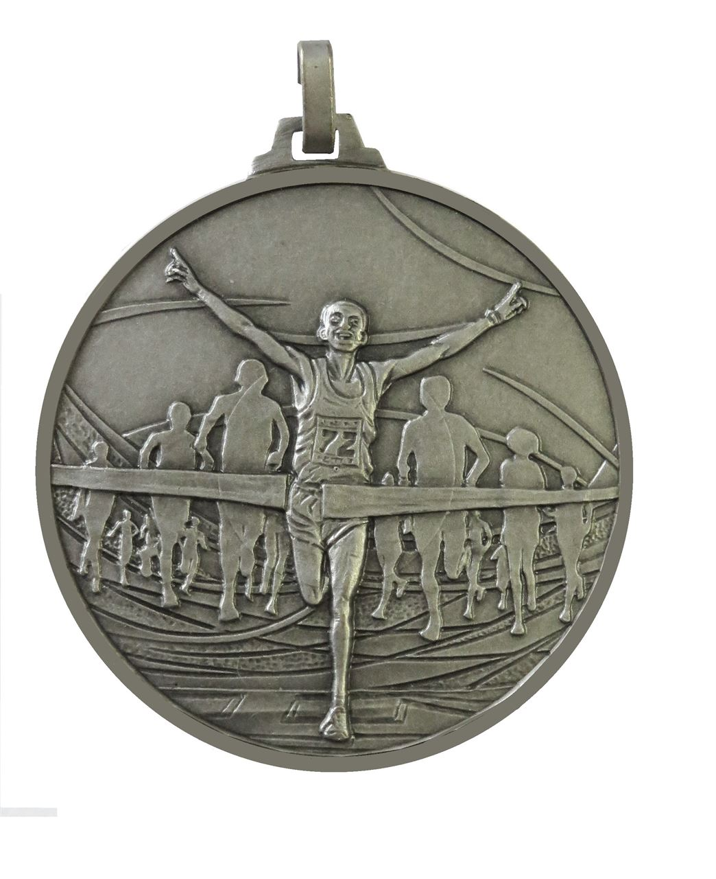 Silver Faceted Winning Runner Medal (size: 52mm) - 438/52S