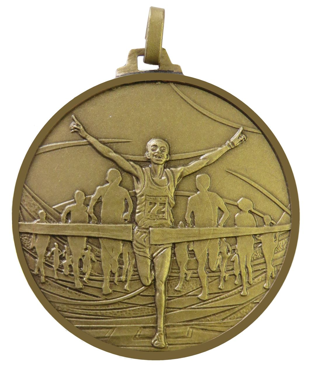 Bronze Faceted Winning Runner Medal (size: 52mm) - 438/52B