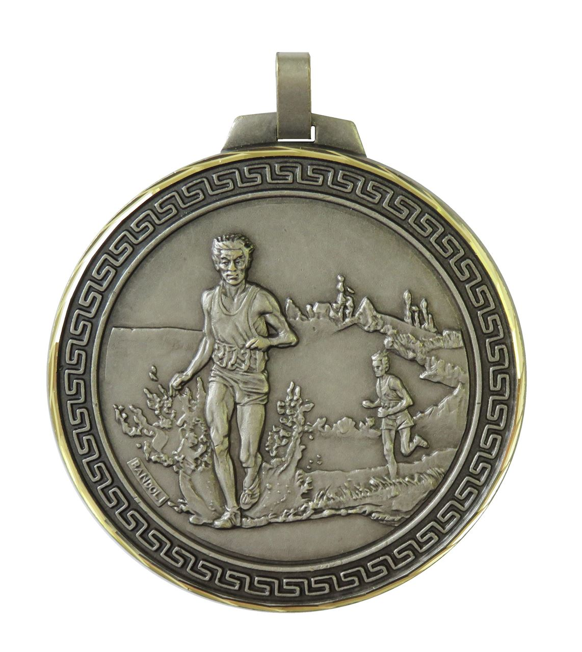 Silver Faceted Cross Country Medal (size: 70mm) - 114/70S