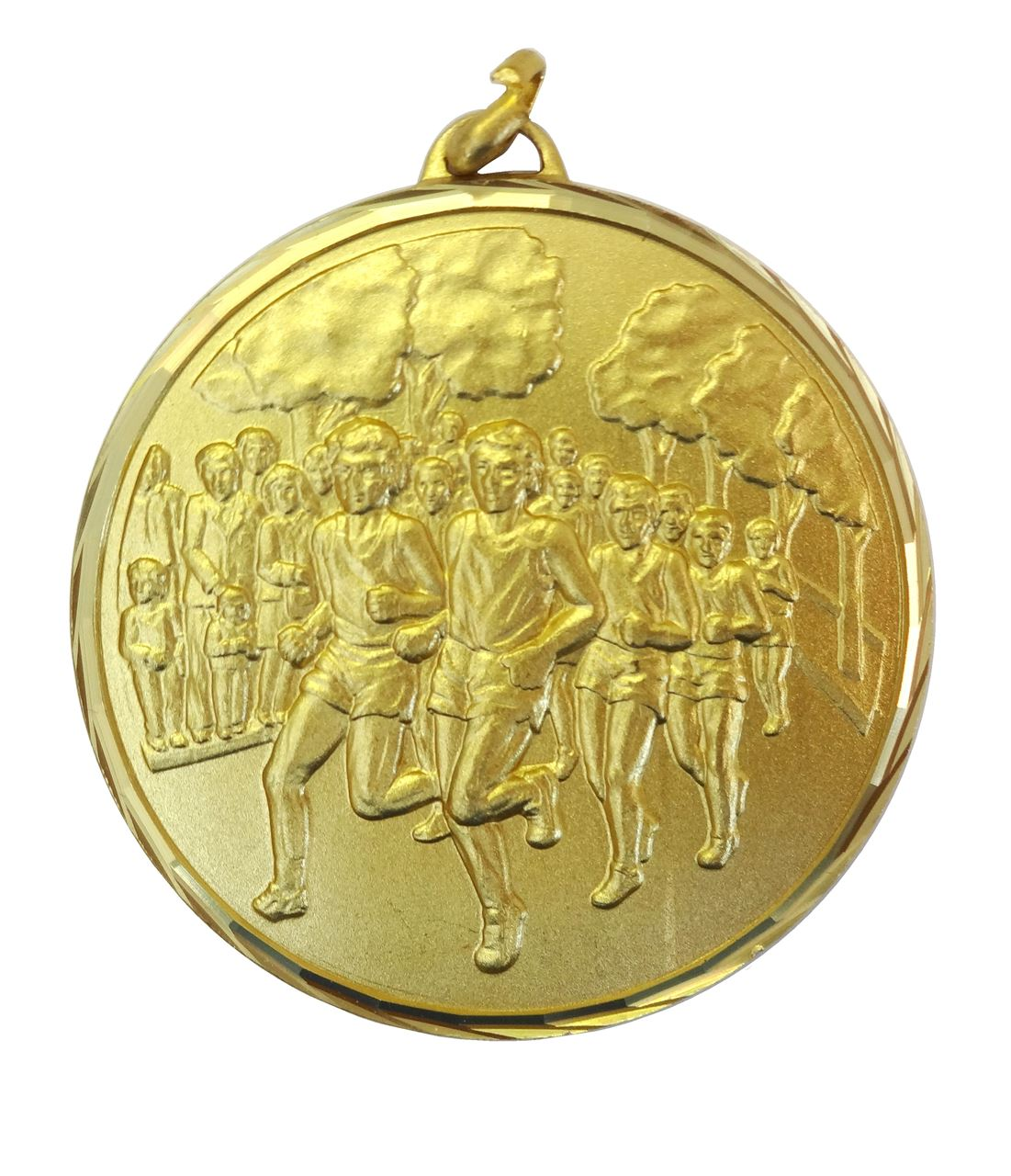 Gold Faceted Cross Country Medal (size: 52mm) - 397/52G