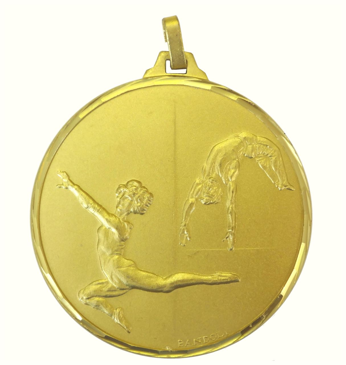 Gold Faceted Gymnastics Medal (size: 42mm and 52mm) - 212F