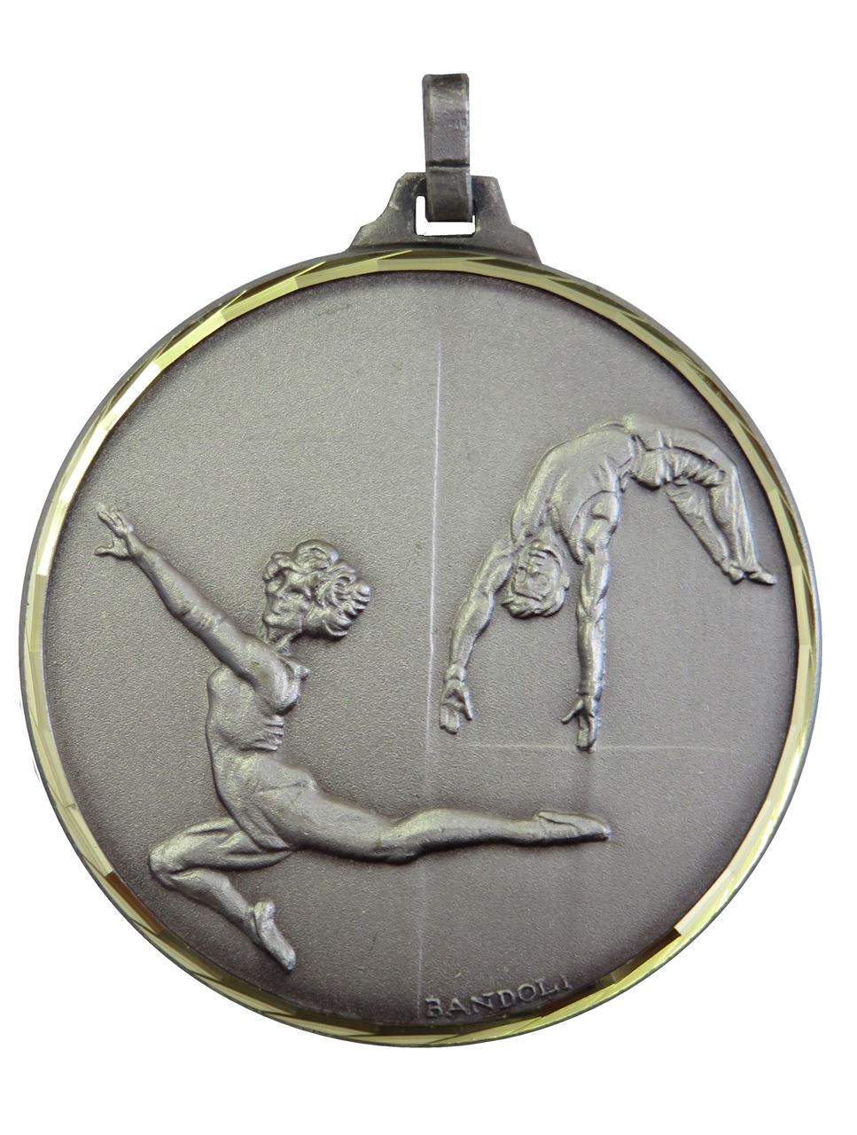 Silver Faceted Gymnastics Medal (size: 42mm and 52mm) - 212F