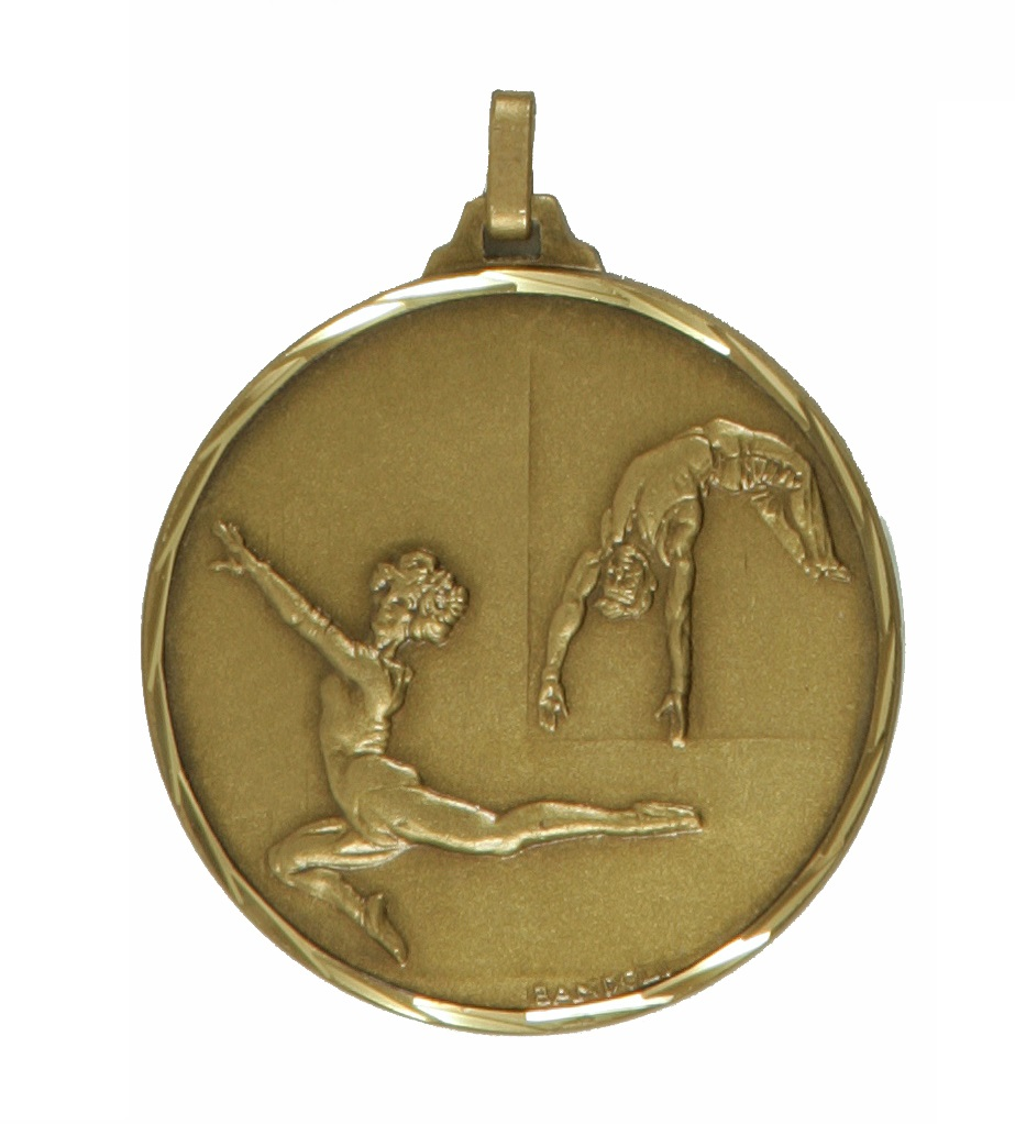 Bronze Faceted Gymnastics Medal (size: 42mm and 52mm) - 212F