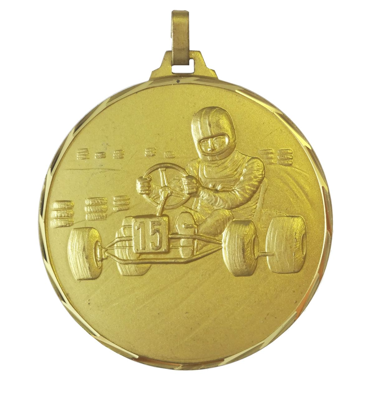 Gold Faceted Karting Medal (size: 42mm & 52mm) - 135F