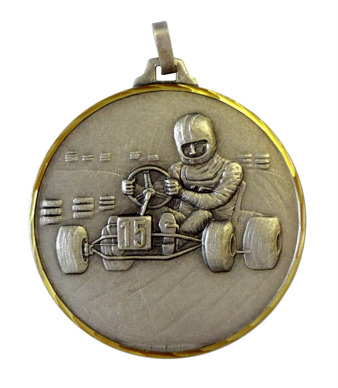 Silver Faceted Karting Medal (size: 42mm & 52mm) - 135F