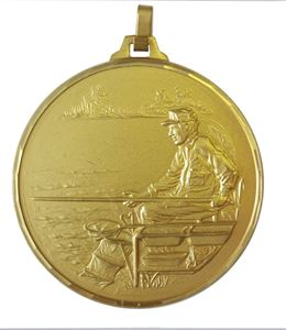 Gold Faceted Fishing Medal (size: 42mm and 52mm) - 274F