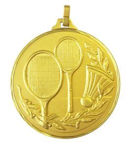 Gold Faceted Badminton Medal (size: 52mm) - 376/52G