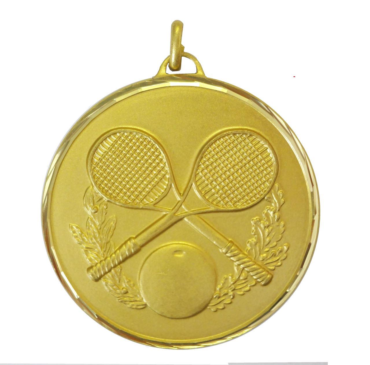 Gold Faceted Squash Medal (size: 50mm) - 368/50G
