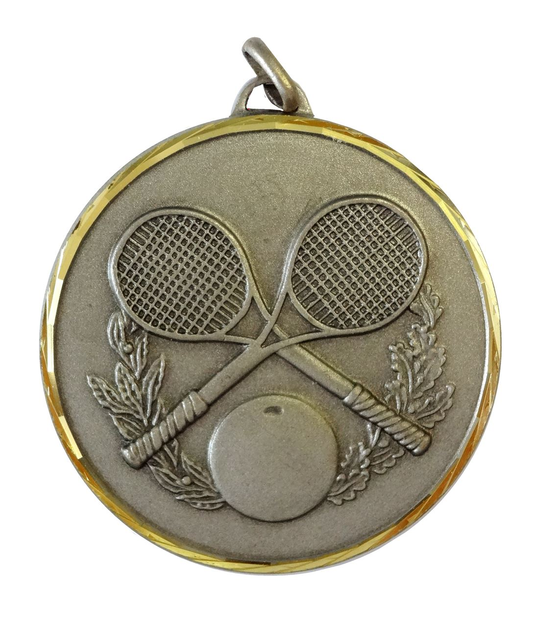 Silver Faceted Squash Medal (size: 50mm) - 368/50S