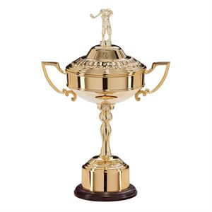 Sterling Gold Plated Golf Cup - GP16310