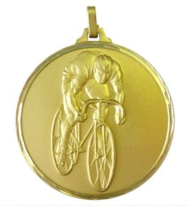 Gold Faceted Cycling Medal (size: 42mm and 52mm) - 199F