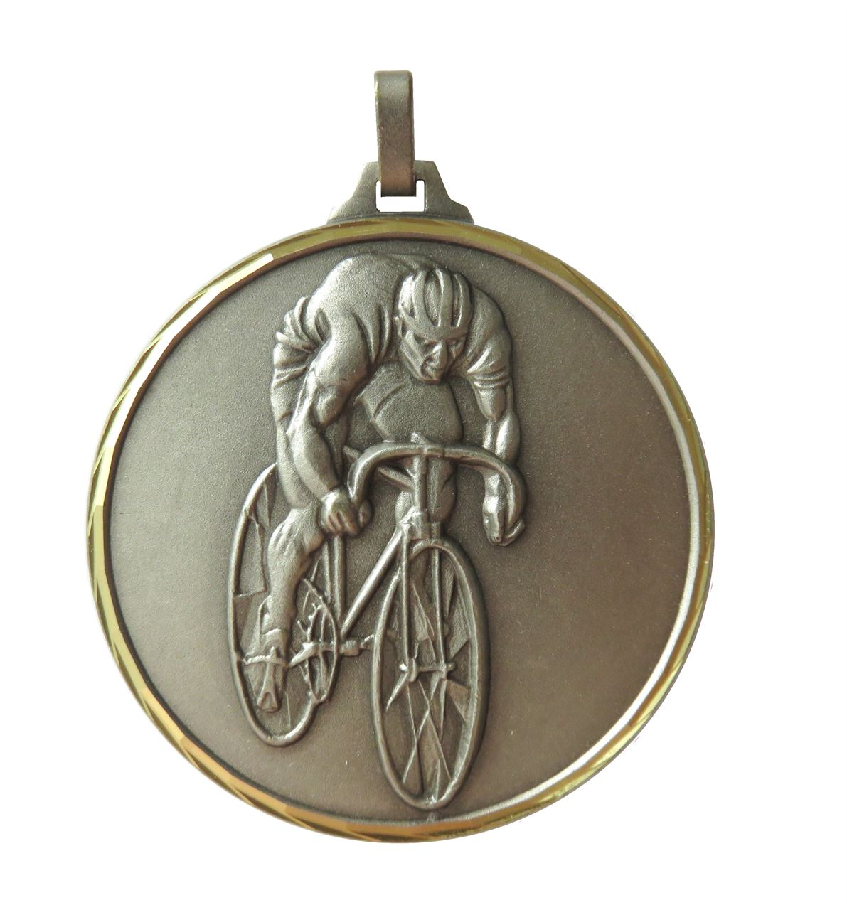 Silver Faceted Cycling Medal (size: 42mm and 52mm) - 199F