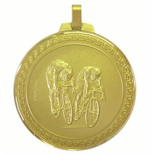 Faceted Cycle Race Medal