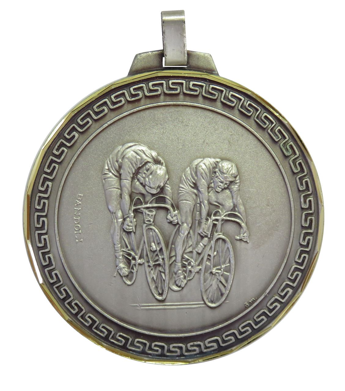 Silver Faceted Cycle Race Medal (size: 70mm) - 194F