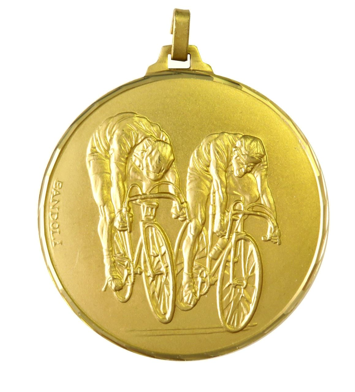 Gold Faceted Cycle Race Medal (size: 52mm) - 194F
