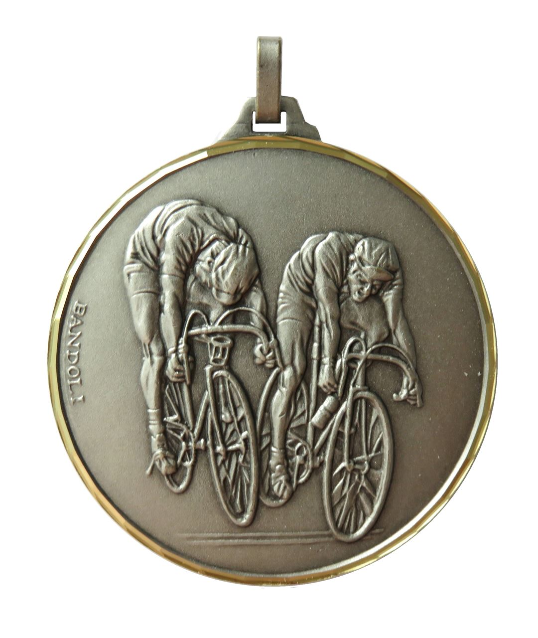 Silver Faceted Cycle Race Medal (size: 52mm) - 194F