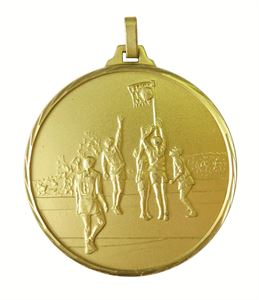 Gold Faceted Netball Medal (size: 52mm) - 899F/52G