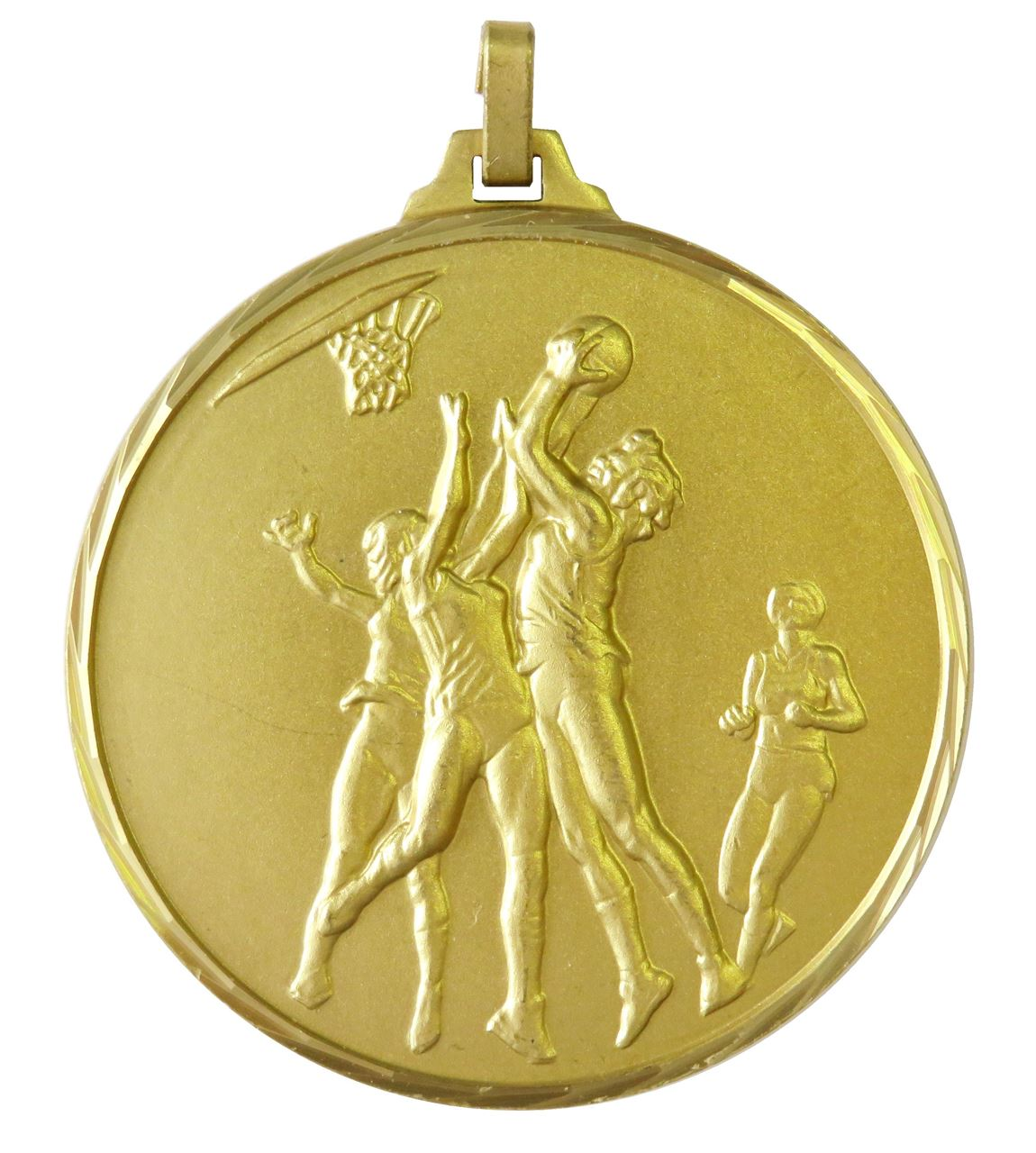 Gold Faceted Netball Medal (size: 42mm) - 255F