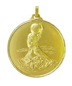 Gold Faceted Water Polo Medal (size: 52mm) - 258F