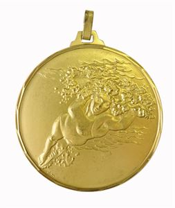 Gold Faceted Female Swimming Medal (size: 42mm) - 242F