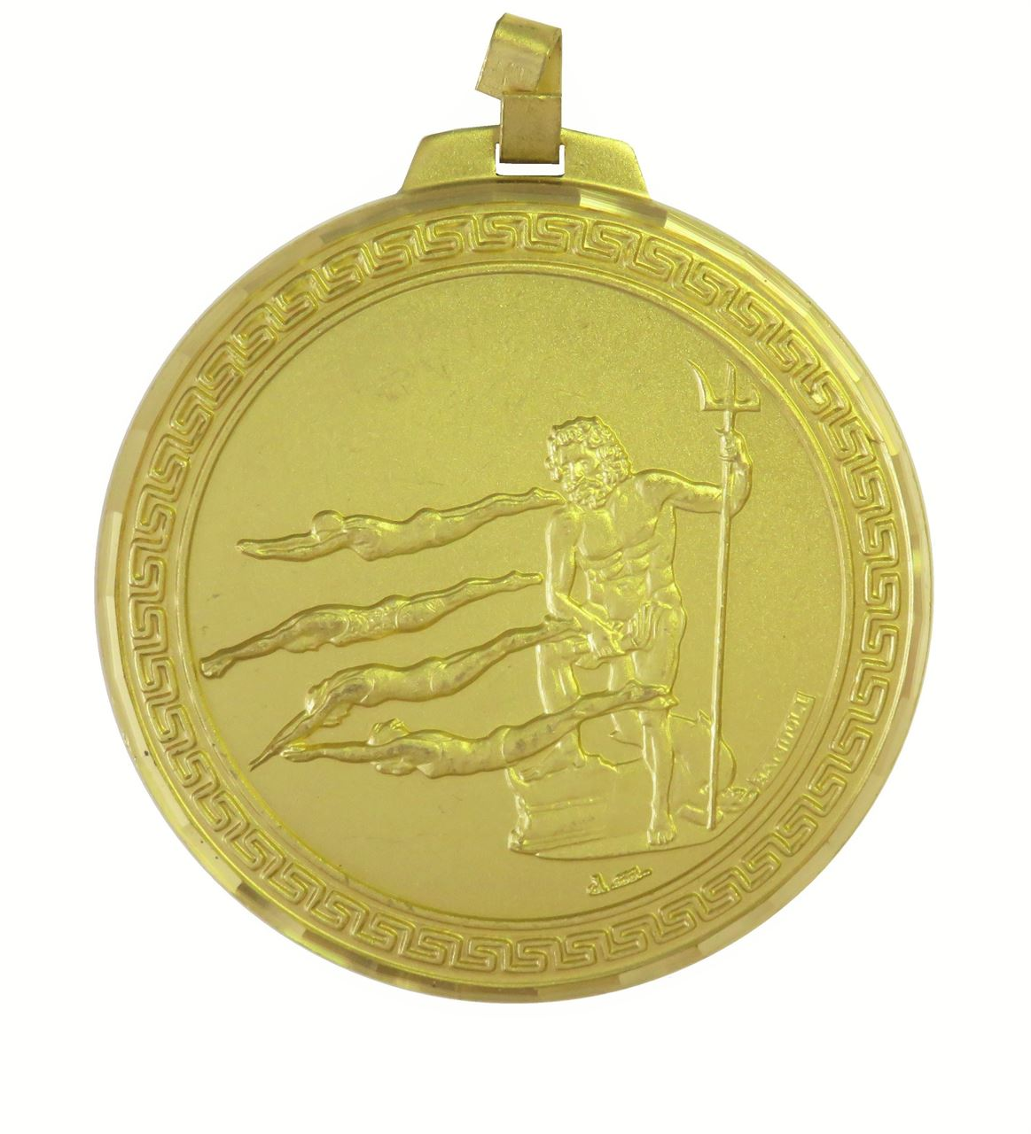 Gold Faceted Female Swimming Medal (size: 70mm) - 247F