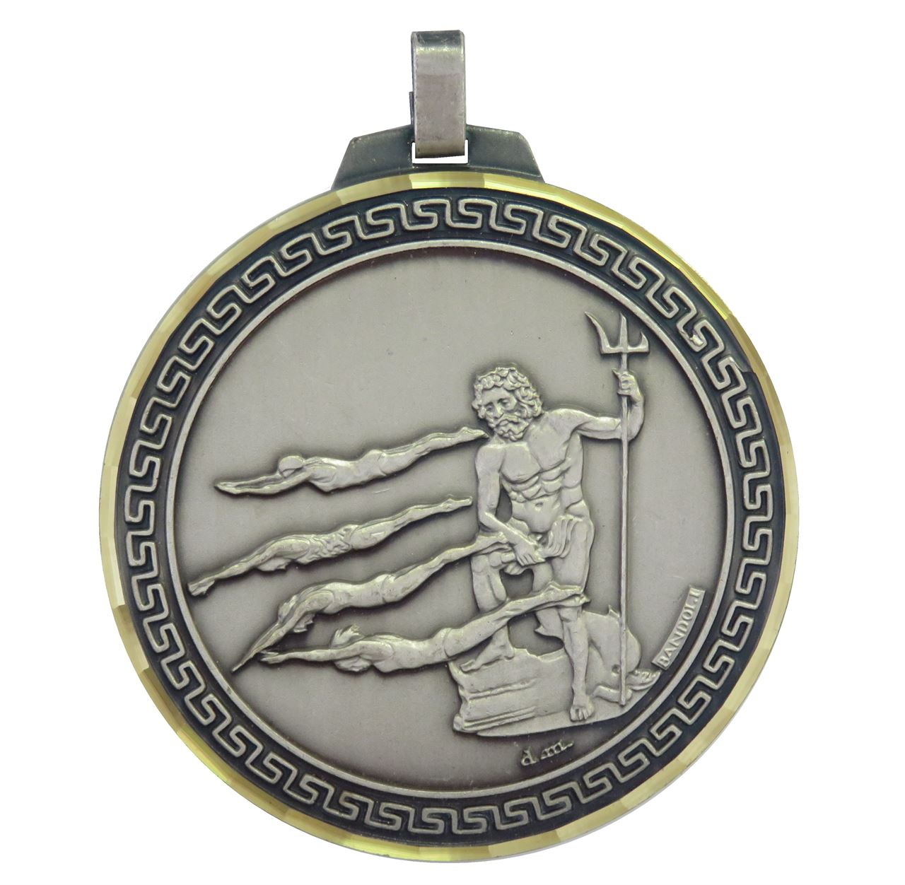 Silver Faceted Female Swimming Medal (size: 70mm) - 247F