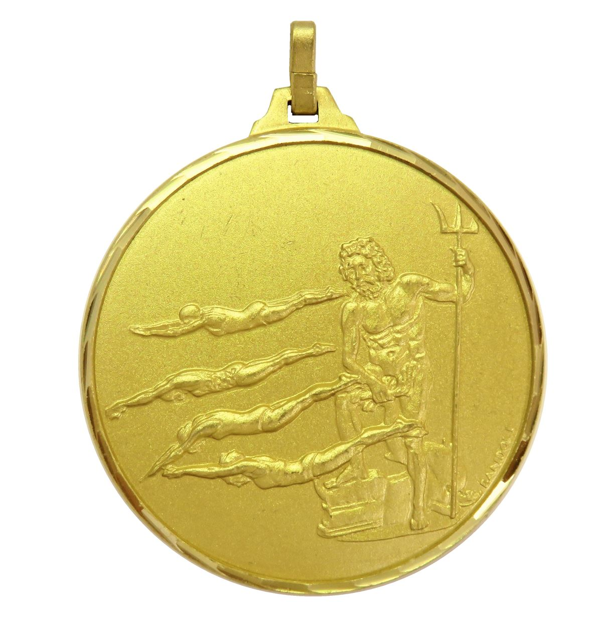 Gold Faceted Female Swimming Medal (size: 42mm) - 247F