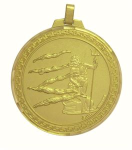 Faceted Male Swimming Medal