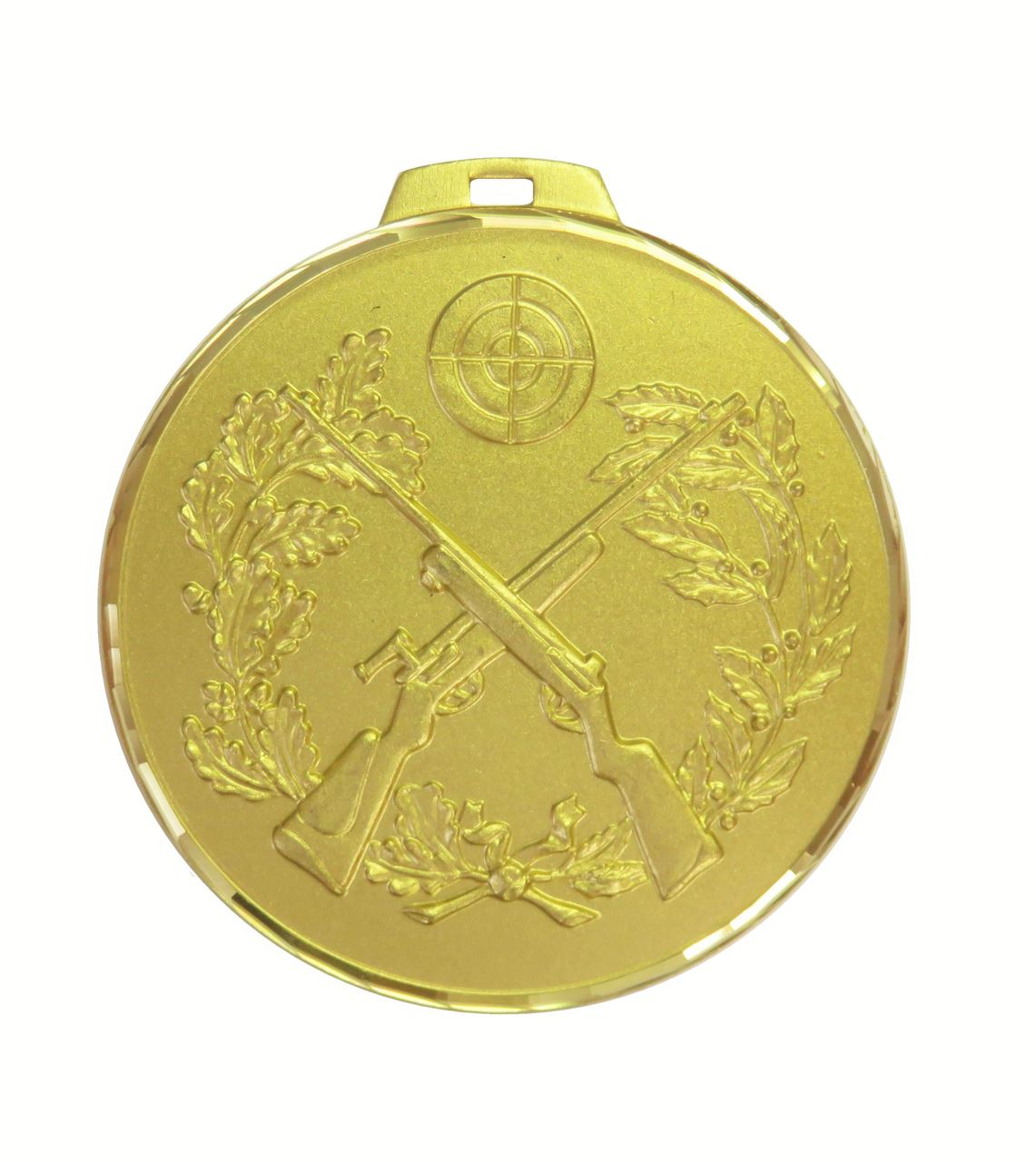 Gold Faceted Cross Rifles Medal (size: 70mm) - 394F/70G