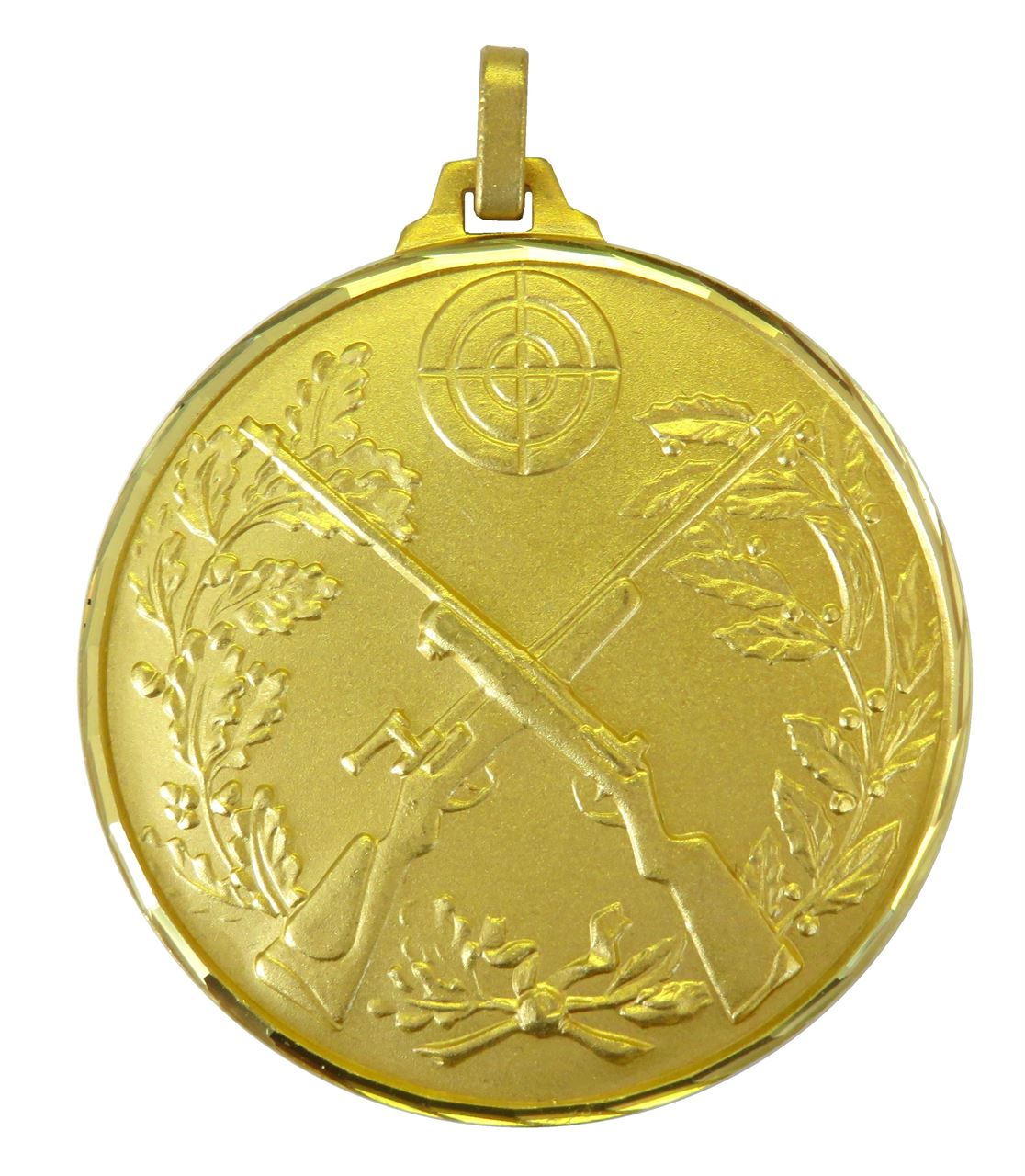 Gold Faceted Cross Rifles Medal (size: 52mm) - 394F/52G