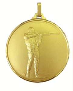Gold Faceted Shooting Medal (size: 52mm) - 333F/52G