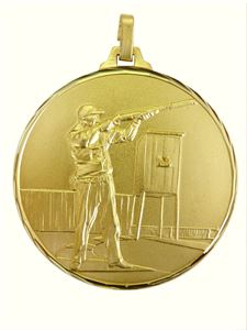 Faceted Clay Pigeon Medal