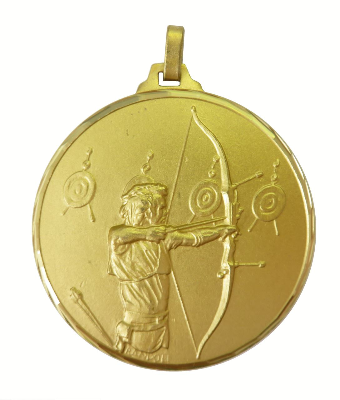Gold Faceted Archery Medal (size: 52mm) - 337/52G
