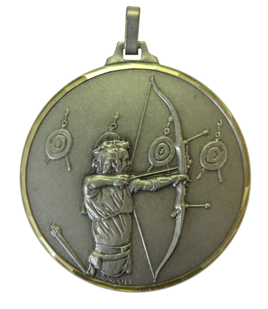 Silver Faceted Archery Medal (size: 52mm) - 337/52S