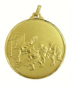 Faceted Ice Hockey Medal