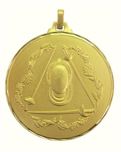 Gold Faceted Fencing Medal (size: 52mm) - 367/52G