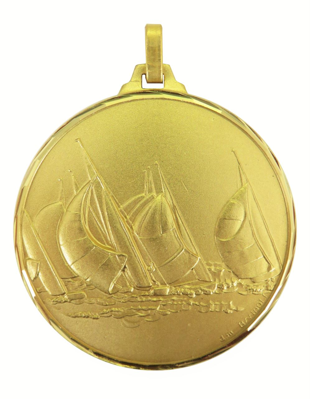 Gold Faceted Sailing Medal (size: 52mm) - 342/52G