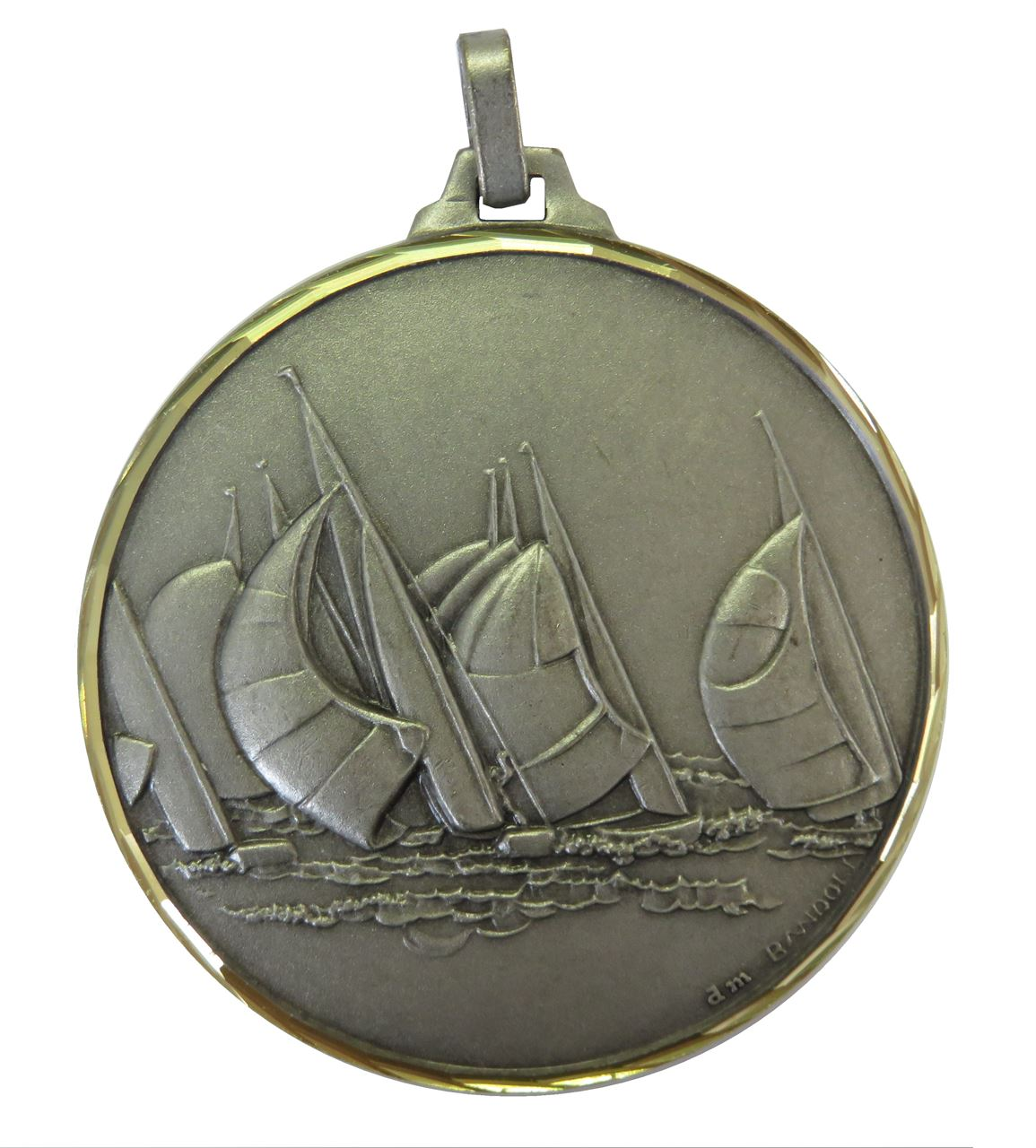 Silver Faceted Sailing Medal (size: 52mm) - 342/52S
