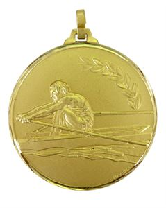 Gold Faceted Rowing Medal (size: 42mm and 52mm) - 184F