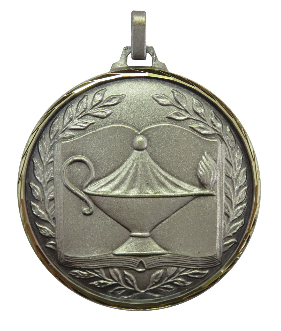 Silver Faceted Academic Medal (size: 52mm) - 231F/52S