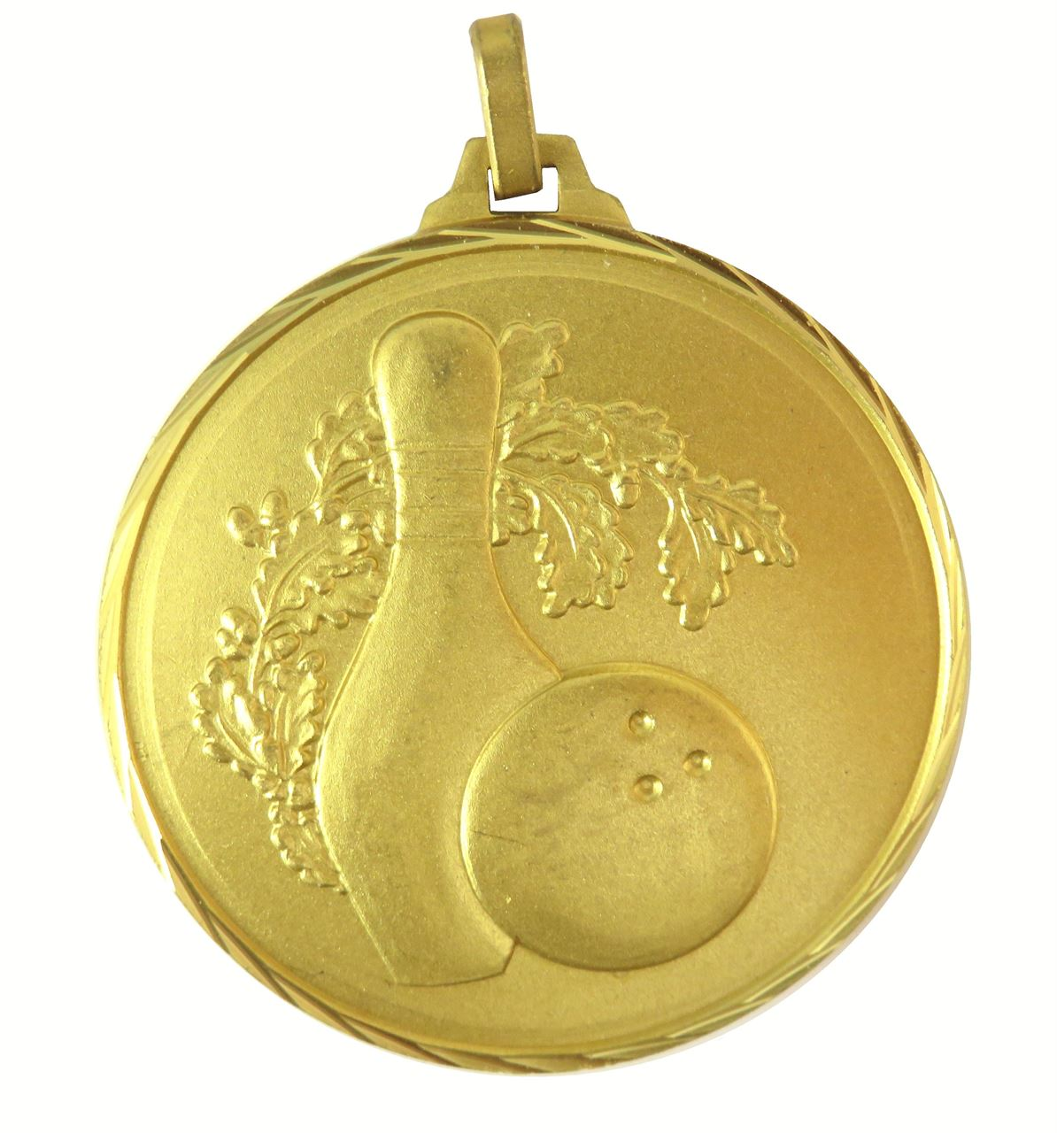 Gold Faceted Ten Pin Bowling Medal (size: 42mm and 52mm) - 366F